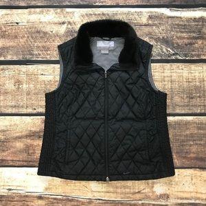 NIKE Running Zip Vest Fur Quilted Down Jacket/Coat